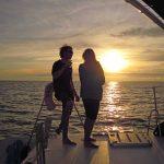 Coucher-de-soleil-catamaran