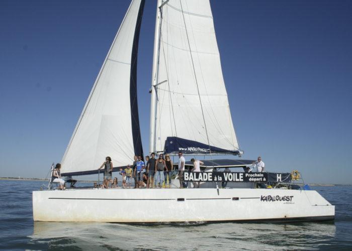 catamaran avec ses voiles